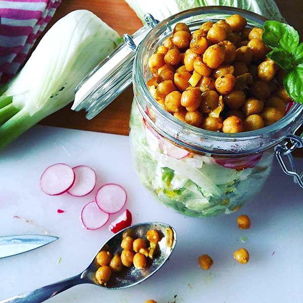 Chinese Salad Recipes - Chickpea Chinese Salad