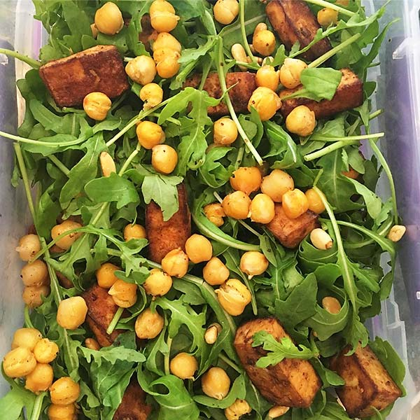 Tofu Chickpea And Rocket Spinach