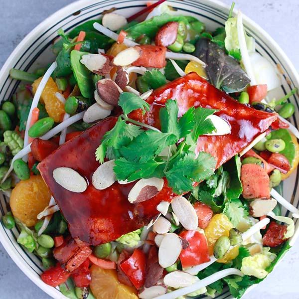 Chinese Salad Recipes - Salmon Chinese Salad