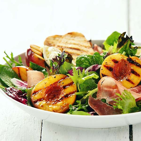 Summer Salads Recipes – Grilled Peach And Spinach