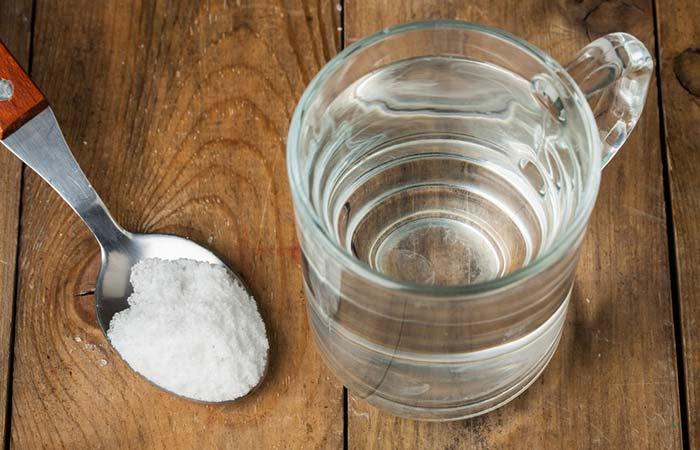 5. Salt Water Mouth Rinse