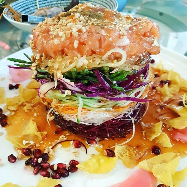 Chinese Salad Recipes - Crab & Pomegranate Chinese Salad