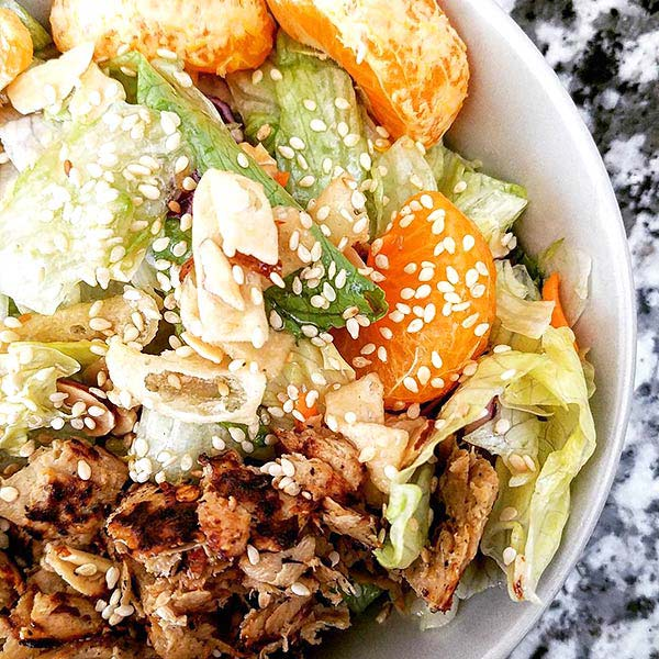 Chinese Salad Recipes - Roasted Chicken And Tangerine Chinese Salad