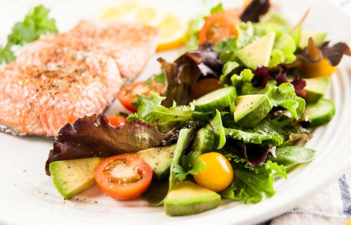 Cobb Salad Recipes - Grilled Salmon Cobb Salad