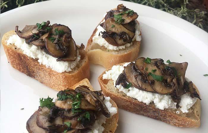 Mushroom Recipes - Mushroom Tartine