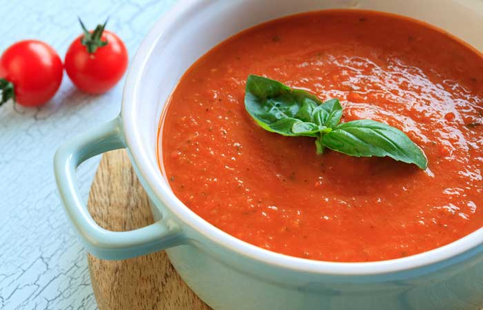 Best Tomato Soup Recipes By Sanjeev Kapoor - Tomato And Basil Soup