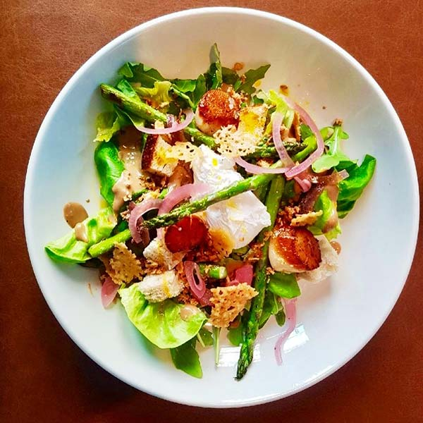 Summer Salads Recipes – Seared Scallop White Anchovy And Butter Lettuce