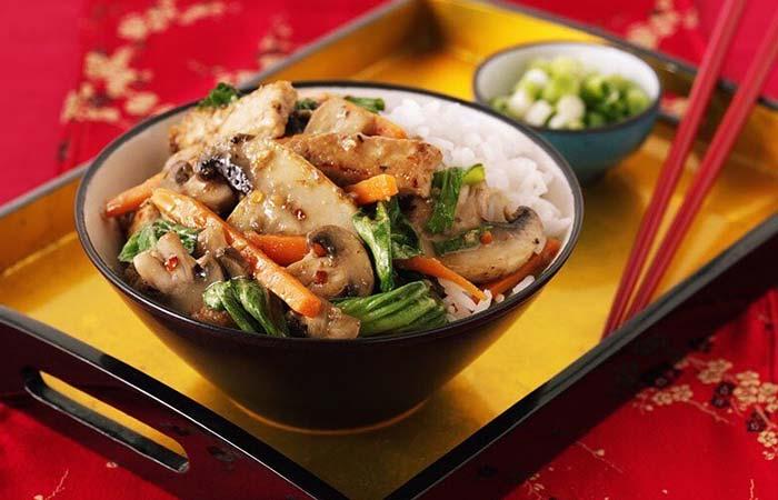 Mushroom Recipes - Five Spice Mushroom Pork Stir-Fry