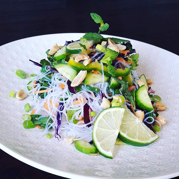Chinese Salad Recipes - Rice Vermicelli And Vegetable Chinese Salad