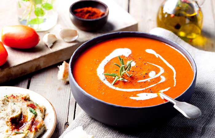 Best Tomato Soup Recipes By Sanjeev Kapoor - Cream Of Tomato Soup