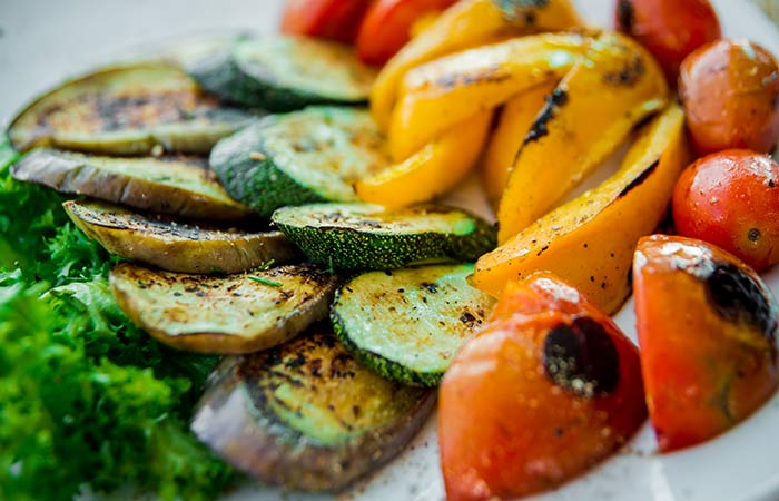 Cobb Salad Recipes - Grilled Veggie Cobb Salad