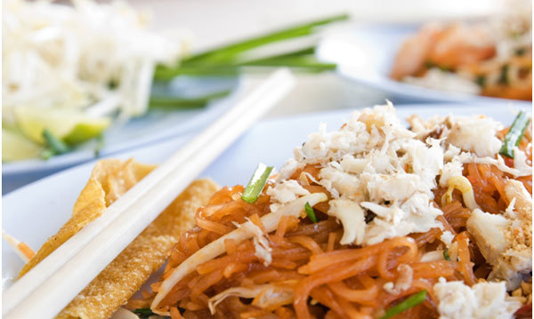 Asian-style Tofu and Cucumber Noodles