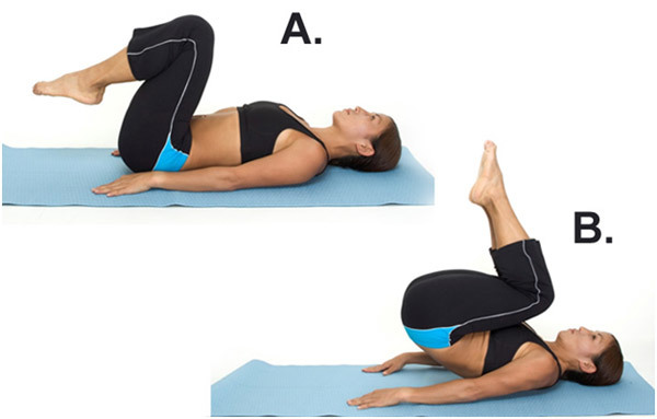 Exercises To Get Flat Abs - Reverse Crunch