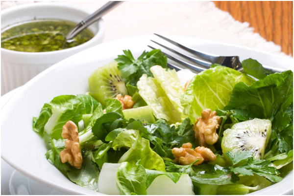 Honey Pecan Kiwi Salad