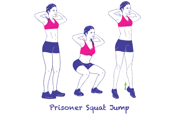 Exercises For Toned Thighs - Jumping Squats or Plyometric Squats