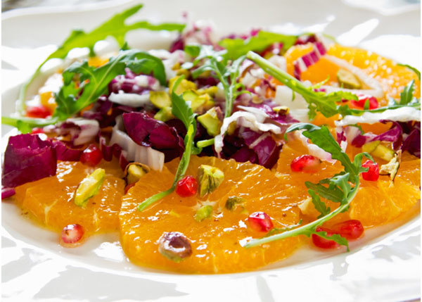 Pomegranate And Blood Orange Salad