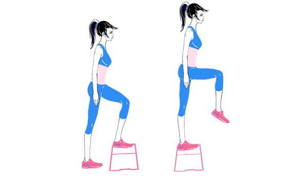 Exercises For Toned Buttocks - Step-Aerobics