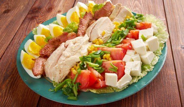 Cobb Salad Recipes - Turkey Cobb Salad