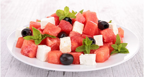 Watermelon and Olive Salad