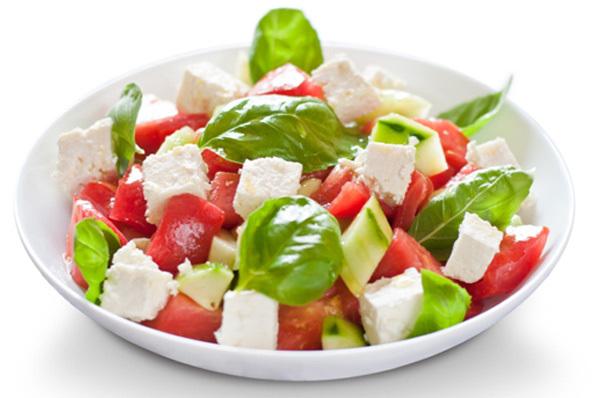 feta cheese with-basil salad