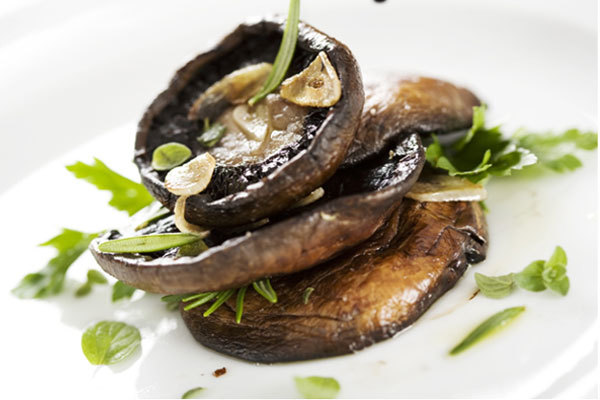 grilled portobello mushrooms with tarragon parsley butter