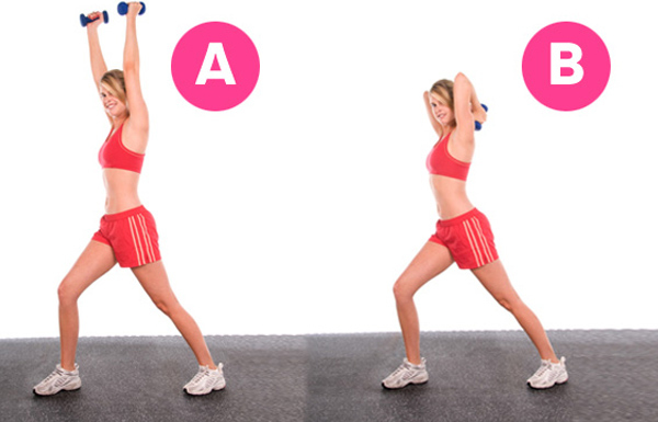 lunge with triceps extension