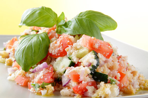 tomato and bread salad with red-onion