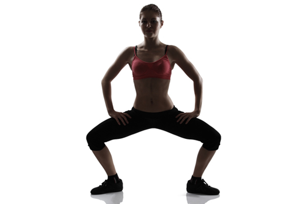 Exercises For Toned Buttocks - Plié Squats