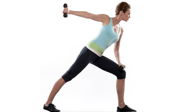 triceps single arm kickbacks
