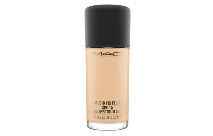 3. MAC Studio Fix Fluid SPF 15 Foundation - Best MAC Foundation
