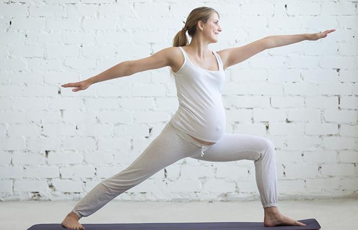 Virabhadrasana-II - Prenatal Yoga