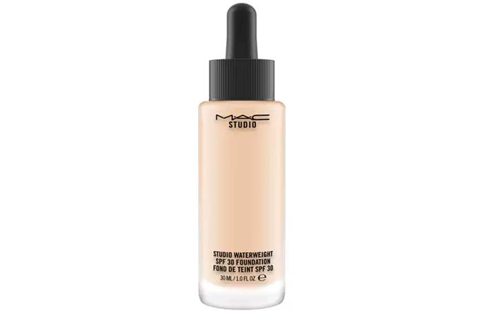 6. MAC Studio Waterweight SPF 30 Foundation - Best MAC Foundation