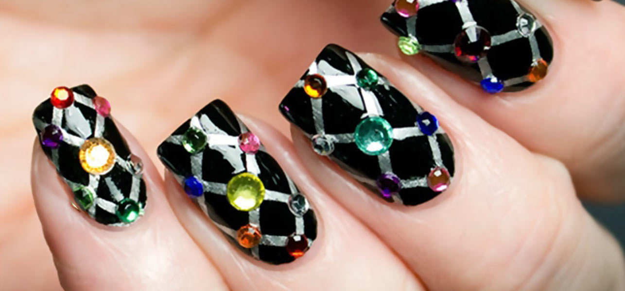 Top 10 beautiful rhinestone nail art designs trending today featured image prinsesfo Gallery
