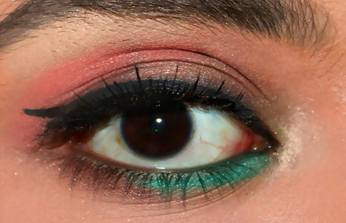 Summer Makeup - Step 6: Add Color To Lower Lash Line