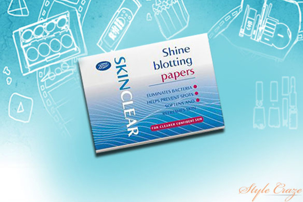 boots skin clear oil absorbing sheets