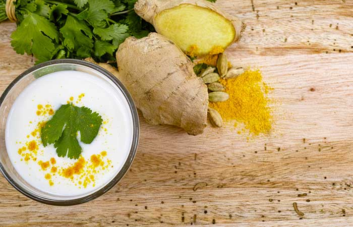 Concoction-Of-Curd-And-Turmeric