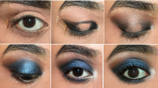elegant blue eyes makeup tutorial