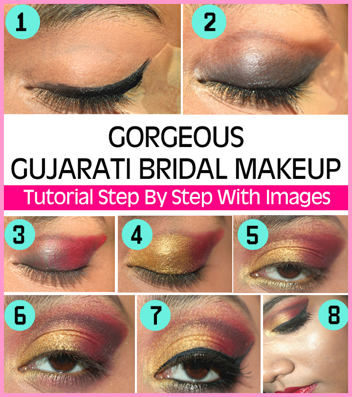 Gorgeous-Gujarati-Bridal-Makeup-–-Tutorial-Step-By-Step-With-Images