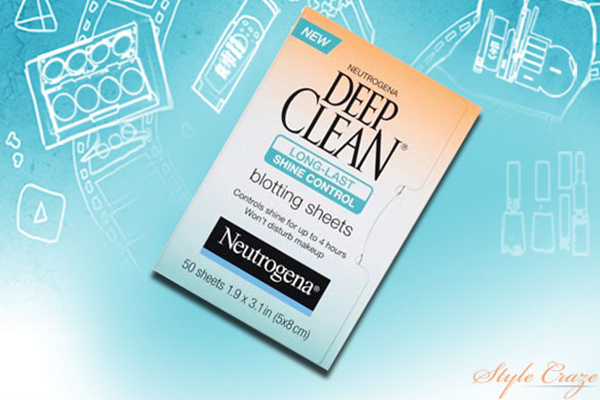 neutrogena deep clean long last shine control blotting sheets