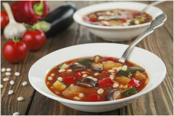 Easy Recipes For Freezer Meals - Roasted Tomato And Eggplant Soup