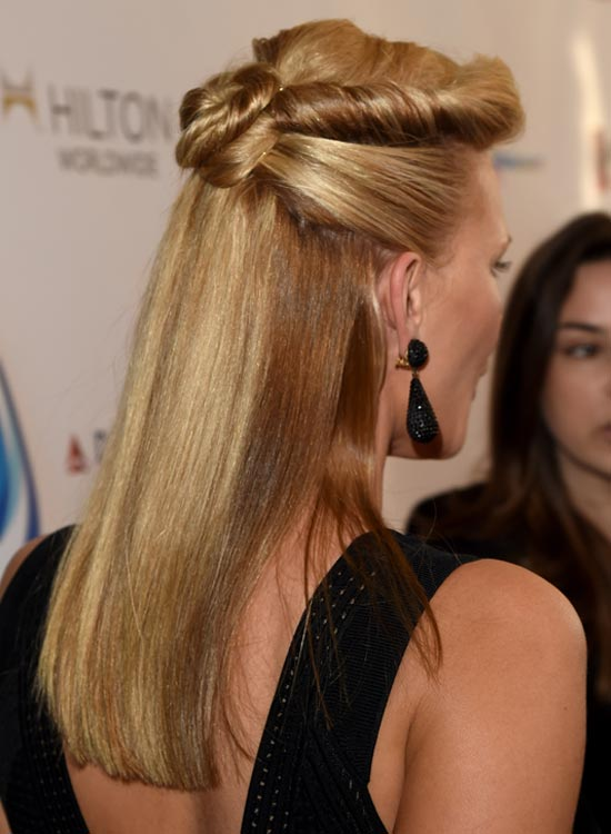 Simple-Half-Updo-with-Twisted-and-Folded-Hair