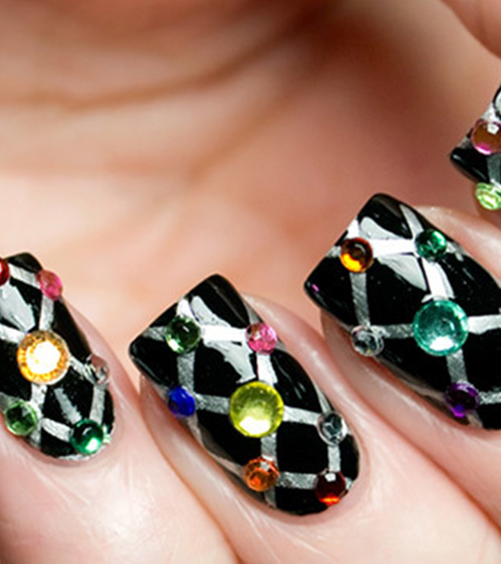 Stunning Rhinestone Nail Art Designs To Try Out