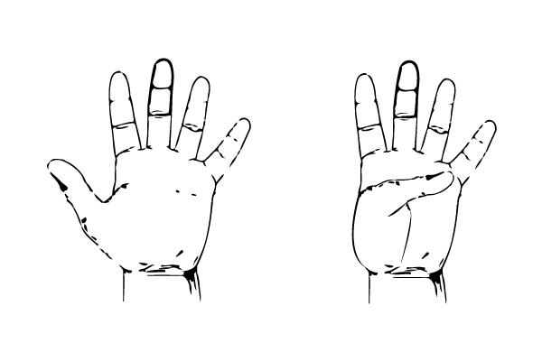 thumb flexes