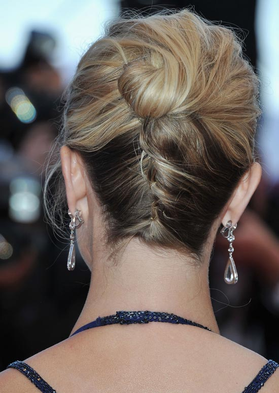 Upside-Down-French-Braided-Bun