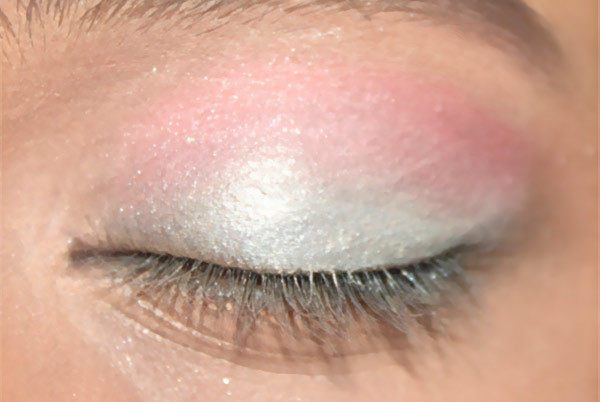 hot pink eyeshadow