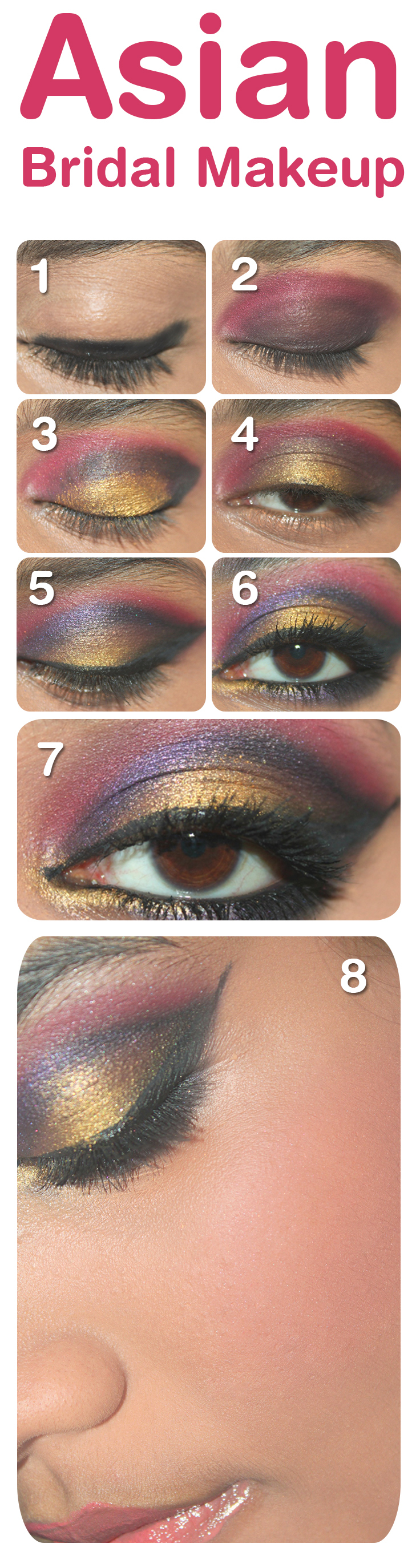 10 Easy Steps For Asian Bridal Makeup Step By Step ...