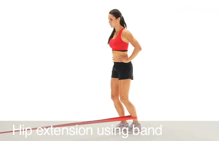Exercises For Groin Muscles - Hip Extension With Band