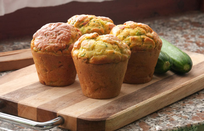 Vegetarian Breakfast Recipes - Zucchini Muffins