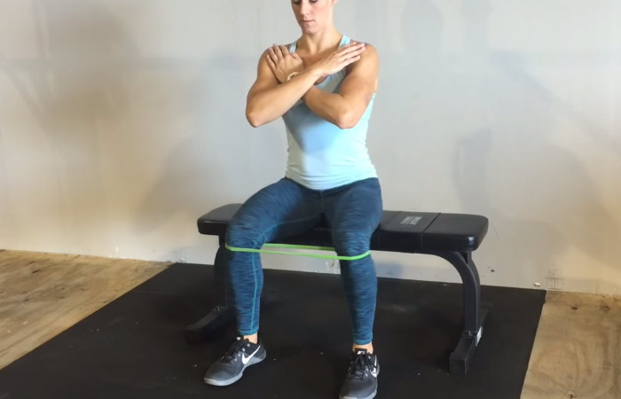 12. Seated Hip Abduction