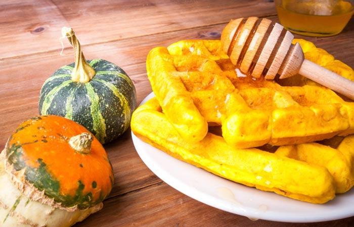 Vegetarian Breakfast Recipes - Whole Grain Pumpkin Waffle